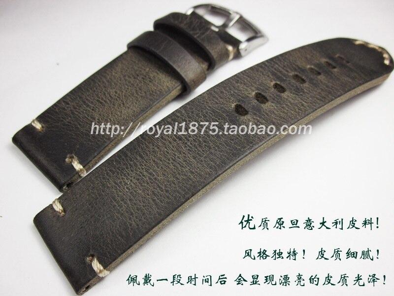Correa de reloj para hombre 18 19 20 21 22mm hecha a mano de cuero Vintage de alta calidad para MIDO Casio Tissot Longines Citizen correas de reloj