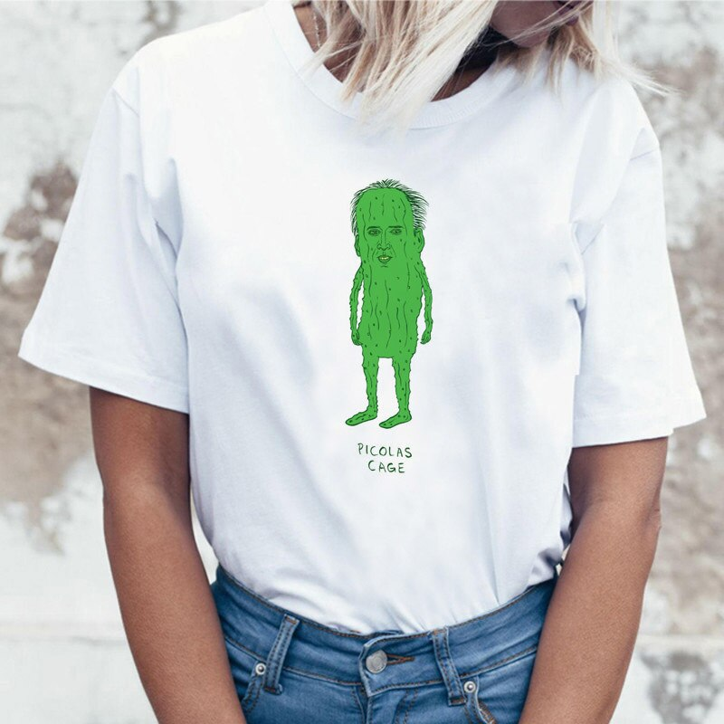 Женская футболка Humor, белая футболка с принтом пастельных художников, футболка с изображением героев мультфильмов, футболка с изображением демона, футболка Kawaii