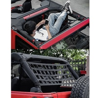 1pcs Car Multi-function Net Pocket Insulation Curtain Hammock Top Soft Cover Rest Bed Hammock For Jeep Wrangler JK 07-18