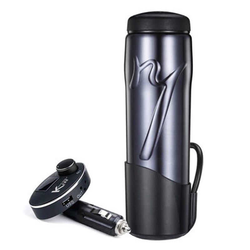 12v / 24v Tragbare Thermos tasse 350ml Auto Heizung Cup Einstellbare Temperatur Auto Kochendem Tasse Wasserkocher kochendem Auto Thermos