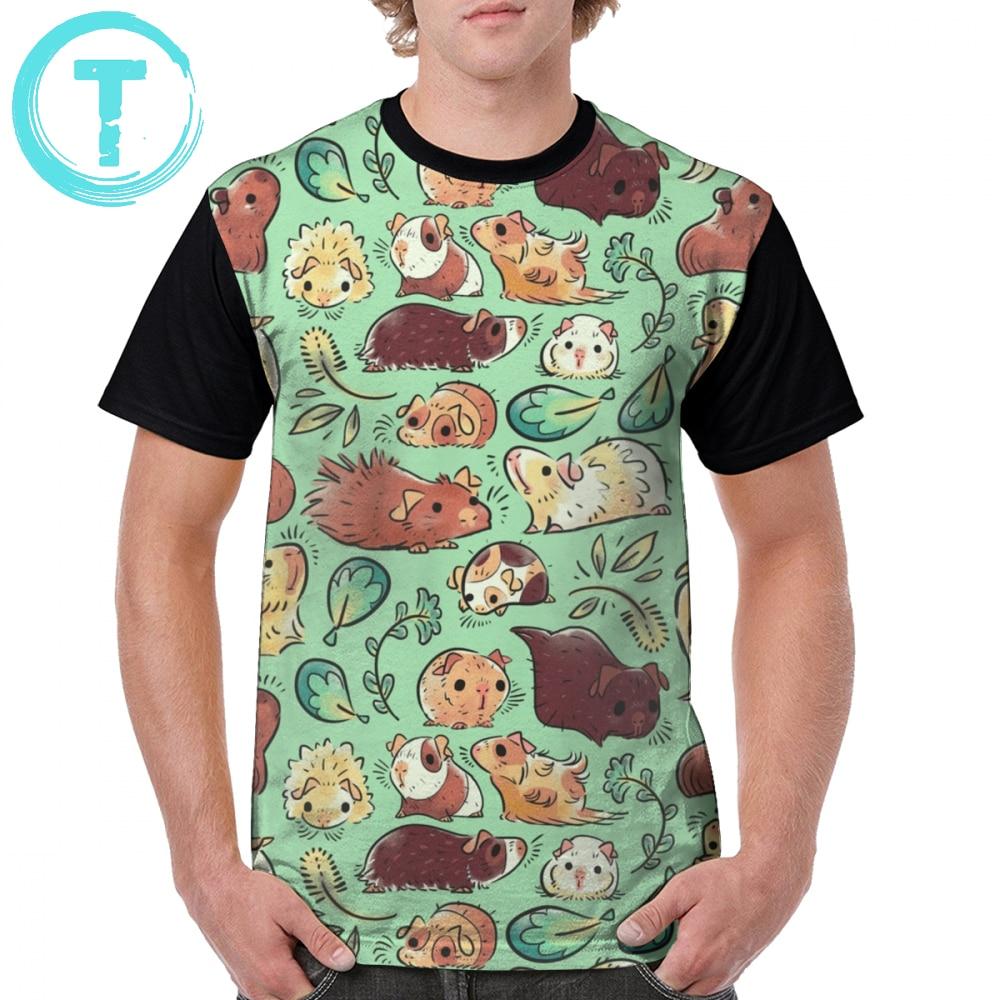 Camiseta de conejillo de indias, camiseta grande con gráfico de 100 poliéster, Camiseta clásica estampada de manga corta para hombre, divertida camiseta