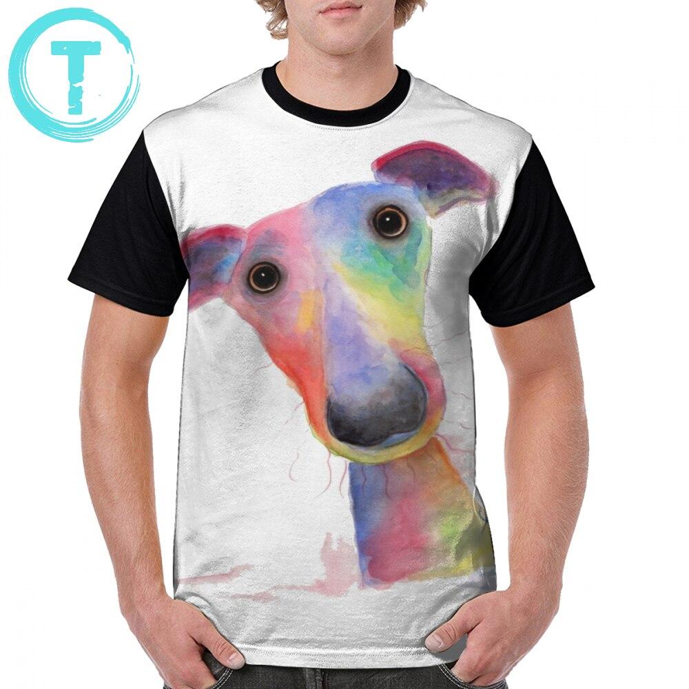 Italian Greyhound T Shirt WHiPPeT GReYHouND DOG T-Shirt 100 Polyester Oversize Tee Shirt Basic Short Sleeves Tshirt