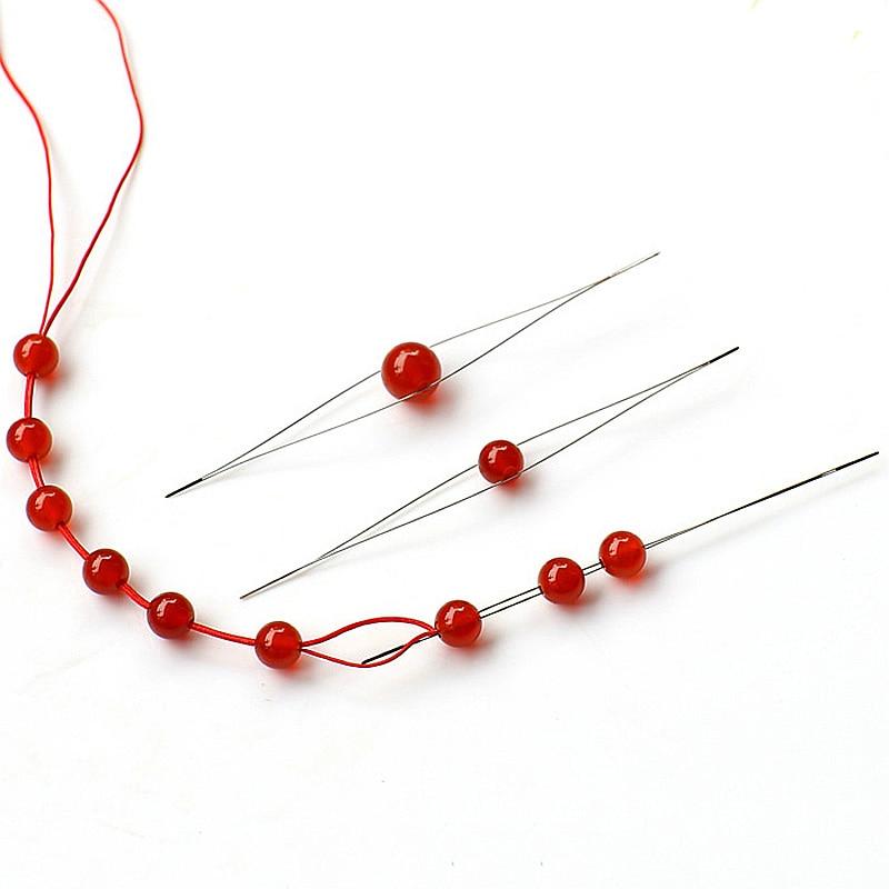 Threading Jewellery Beading Tool Cord  Handmade Bracelets  Pins Needl 1pc New Elastic Beading Easy 125mm DIY
