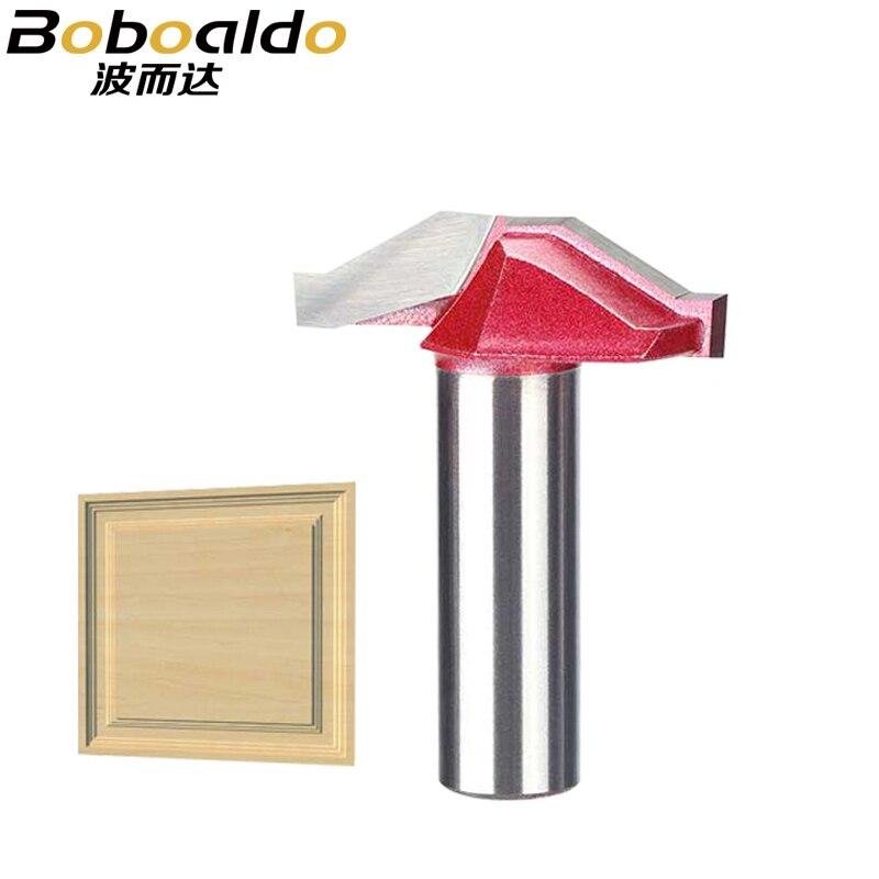 Boboaldo, 1 pieza, 1/2, brocas de enrutador de marco de puerta de madera con vástago para puertas de metal duro, fresa de grabado