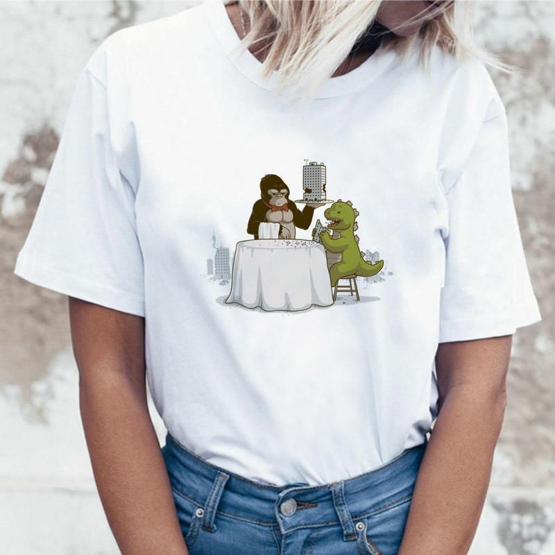 Horror 90s piada tatuagem design roupas feminino doodle pastel harujuku vintage camiseta feminina t camisa moda bonito camiseta superior
