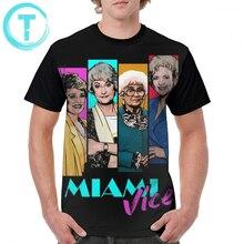 Doré filles T-Shirt Miami Vice T-Shirt grande taille homme graphique T-Shirt à manches courtes mode 100 Polyester impressionnant impression T-Shirt