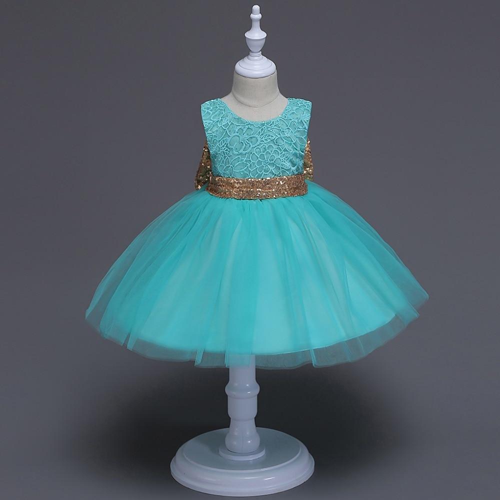 Carters vestido de venta popular Mujer Moana flor sin mangas niños niñas vestido de encaje moda lentejuelas boda fiesta de malla plisada Pro