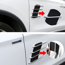 1 paar Auto Styling Exterieur Decal 3D Auto Sticker Cool Chrome Shark Kieuwen 3D Auto Stickers Side Vent Air Flow sticker Auto Truck