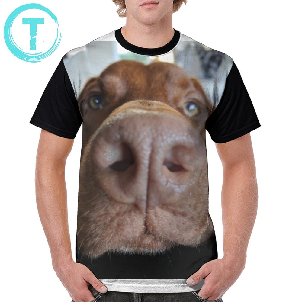 Vizsla, camiseta con modo Selfie, camiseta estampada con gráfico de poliéster 100 por ciento, camiseta de manga corta para hombre, camiseta de playa divertida de gran tamaño