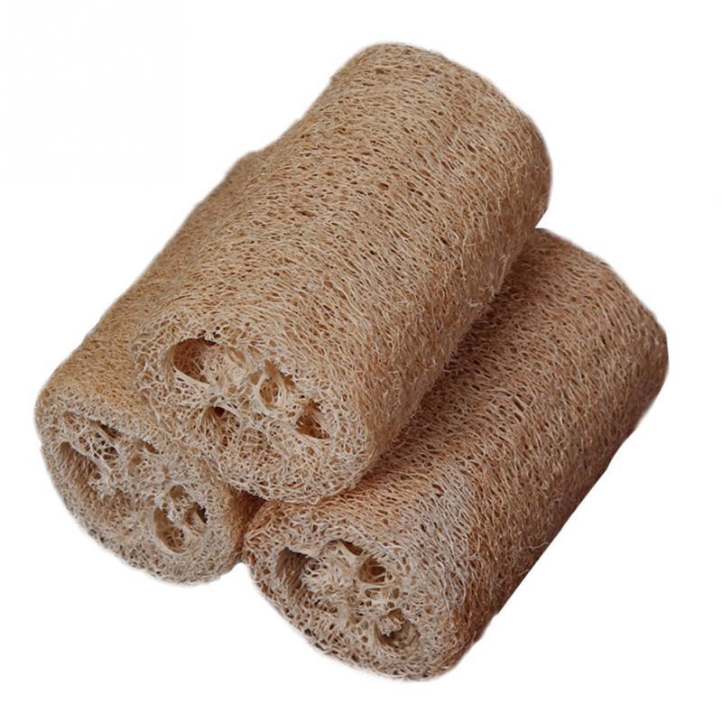 3 teile/satz Natürliche Luffa Luffa Bade Körper Peeling Pinsel Haut Pflege Loofa Weichen Bad Dusche Körper Tief Waschen Reinigung Wäscher