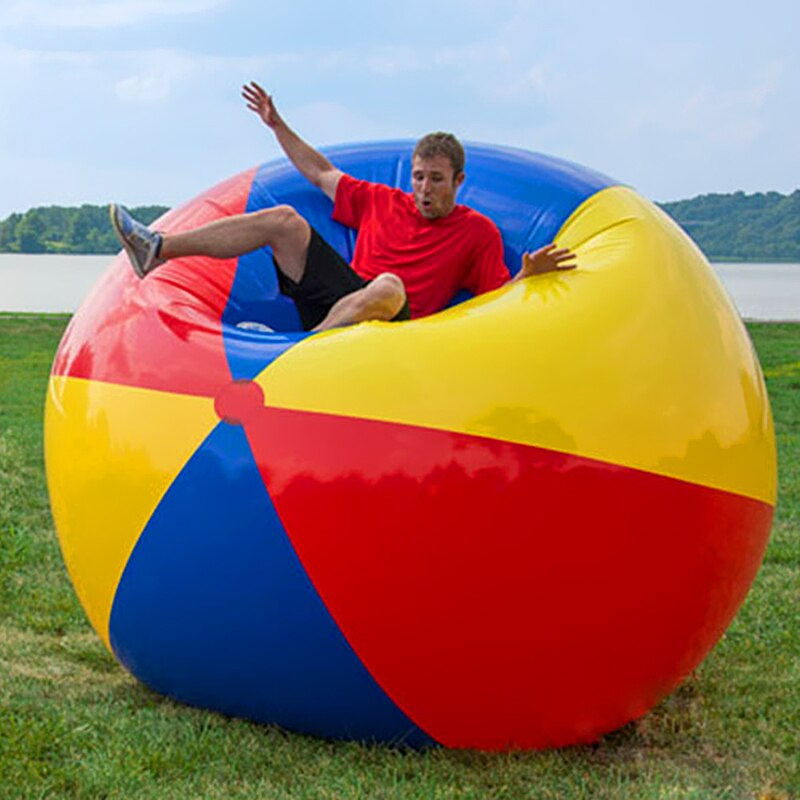 Gran oferta de pelota inflable de playa, pelota grande hinchable gruesa para jugar en la playa o en la piscina, juguetes para entretenimiento al aire libre para padres e hijos