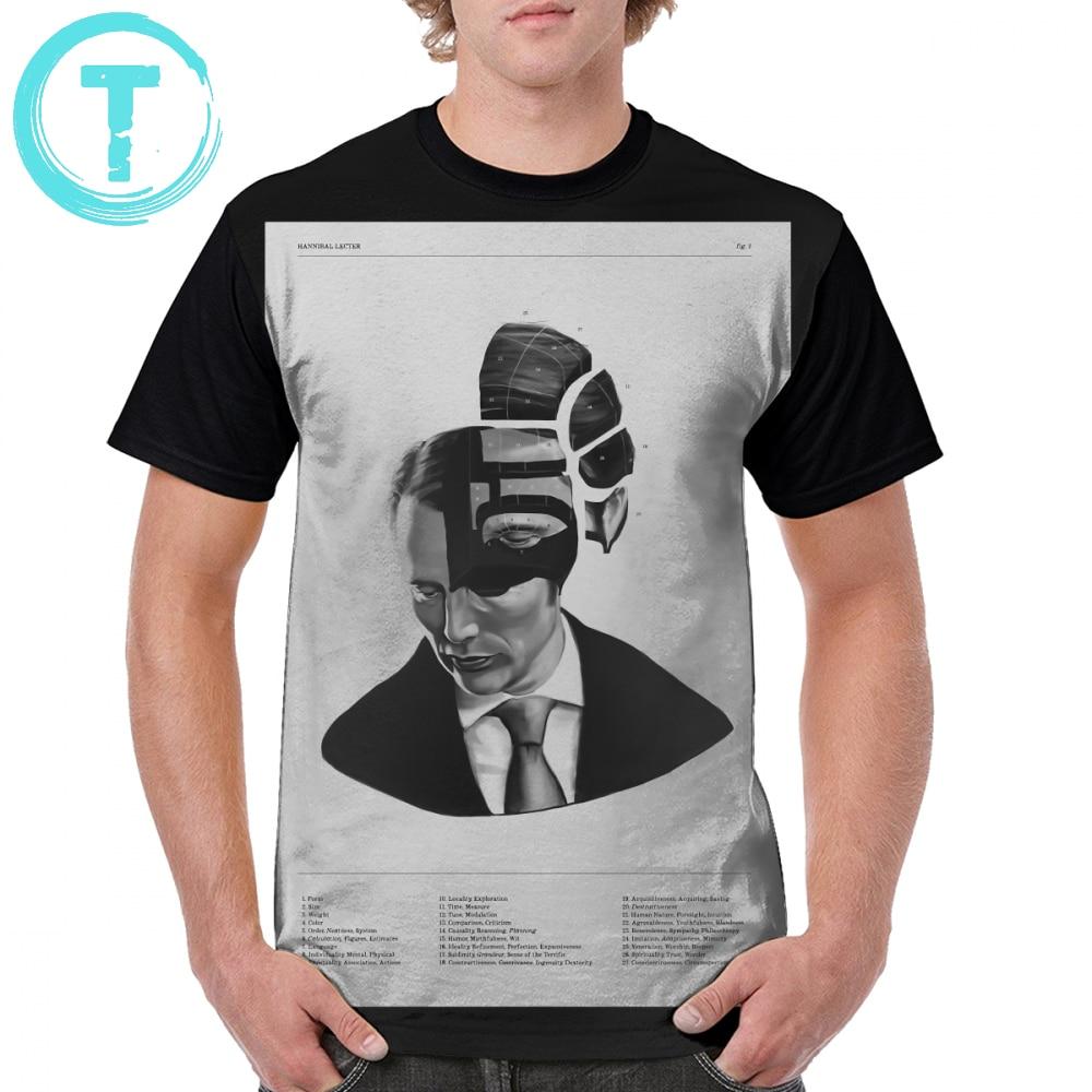 Hannibal camiseta Hannibal Lecter Phrenology camiseta 100 poliéster Camiseta extragrande con dibujo para hombre camiseta bonita de manga corta
