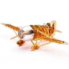 1/160 Échelle En Laiton Gravé Modèle Kit Gee Bee Racer R 2 Avion 3D DIY Métal Puzzle Miniature Jouet Adulte Passe-Temps épissage Science