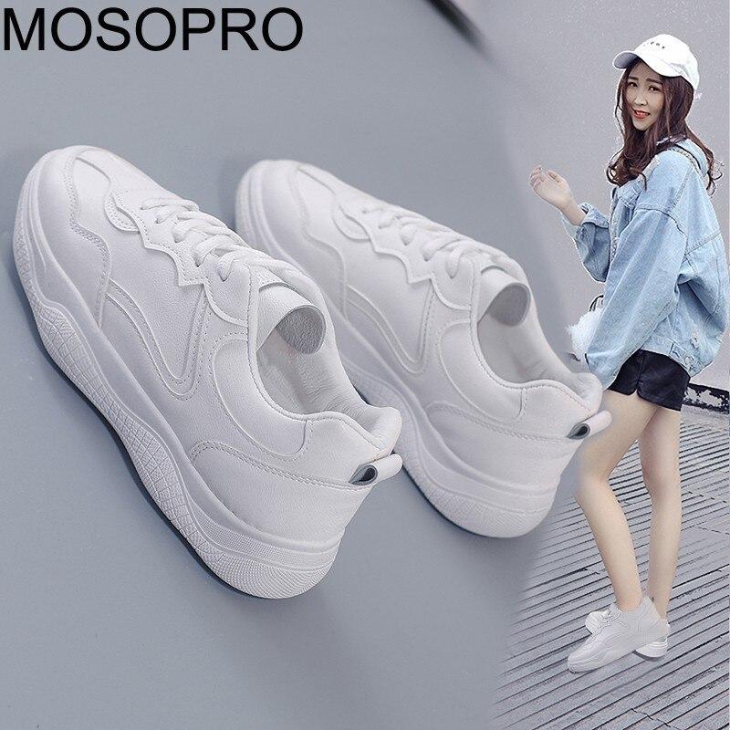 MOSOPRO zapatos de mujer blanco de primavera zapatillas de deporte zapatos para caminar plataforma zapatillas de deporte zapatos de tenis damas S037