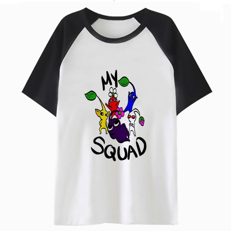 Camiseta de pikmin, camiseta divertida para usar en la calle, camiseta de hip hop para hombres, camiseta harajuku para hombre H2150