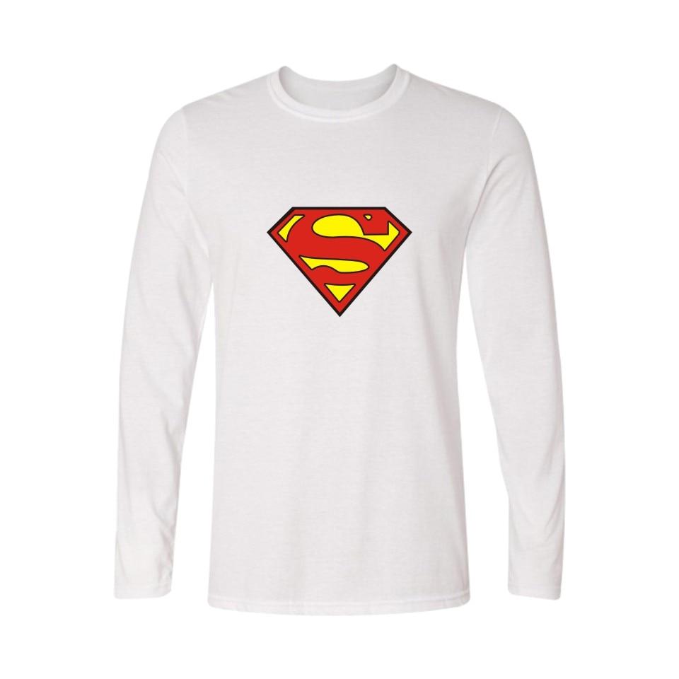 Moda Logo Superman T Shirt męska koszulka z długim rękawem jesień i mężczyzn TShirt kolorowe T-shirt z nadrukiem Super człowiek w koszulkach i topy pary
