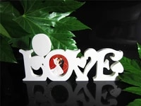 new style conjoined words love photo frame home decor wedding birthday wedding decoration wood wooden white letters alphabet