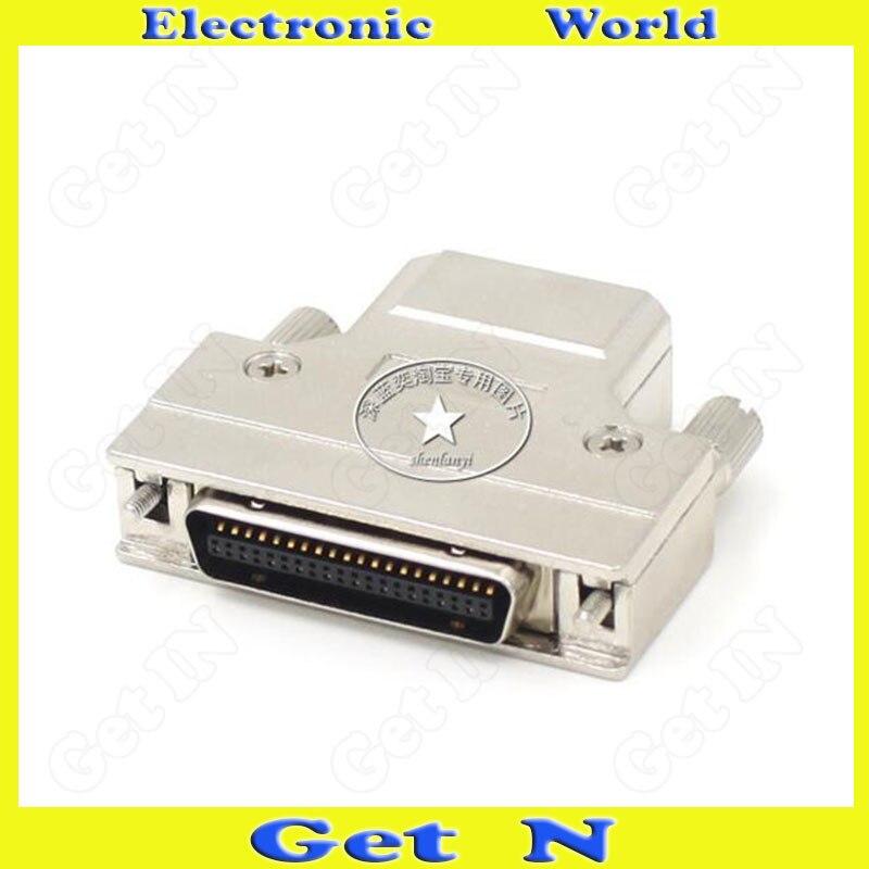 2 uds FMC50M-AS conector SCSI carcasa de hierro HPCN50 Pin conector macho interfaz de extremo enchufe de Cable