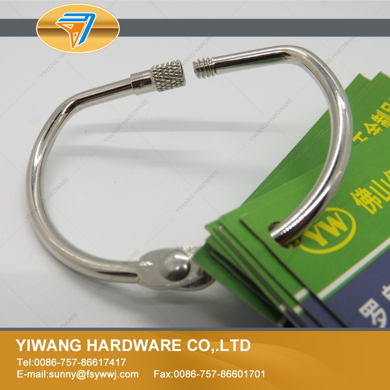 Wholesale high quality keychain nickel plating screw lock binding ring D ring calendar circle hanging ring 10pcs per set