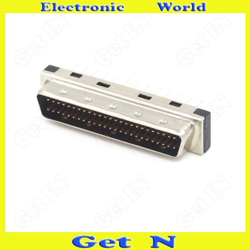 20 قطعة MDD50MA-180 SCSI المكونات مستقيم دبوس موصل PCB الذكور رئيس 50PIN ديسيبل نوع مستقيم الساق محول
