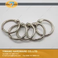 wholesale high quality nickel plating postcard collection binder ring 10pcspackage durable open ring curtain circle o ring