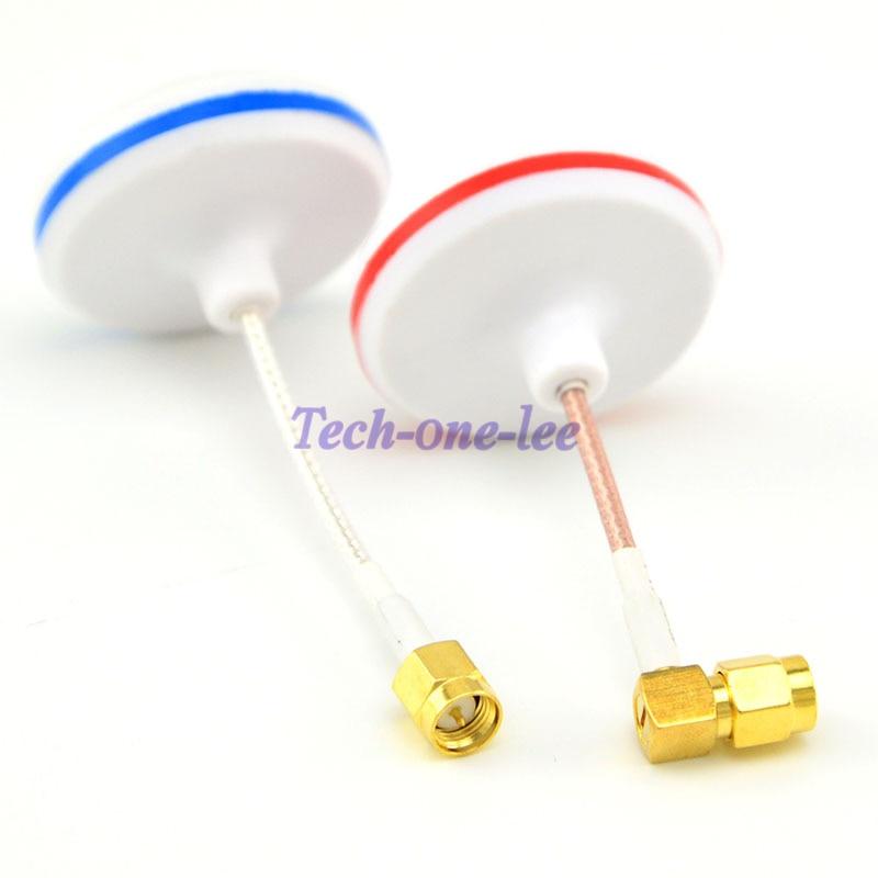 2 unids/lote 5,8G de antena polarizada Circular de 5,8 GHz para Bifrequency para FPV TX RX SMA aéreo