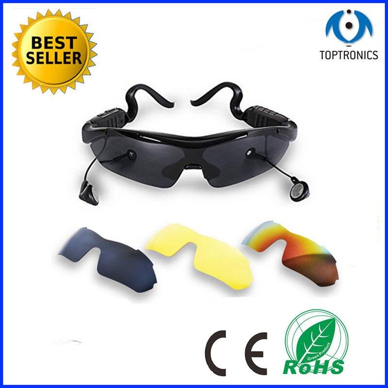 2017 gafas de sol baratas con auriculares Bluetooth gafas inteligentes polarizadas gafas smartglasses para Android IOS Smart Electronics