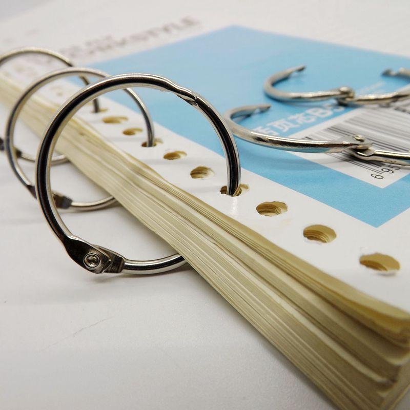 Высококачественное кольцо для блокнота, никелированное кольцо с календарем, свободное кольцо с листьями, брелок, 10 шт., кольцо для фотографи...