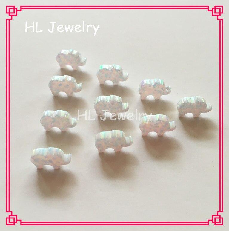 15PCS/Lot   OP17 Pacific Blue Opal Elephant 8*11mm Synthetic Opal jewelry For DIY Bracelet /Earrings/Necklaces