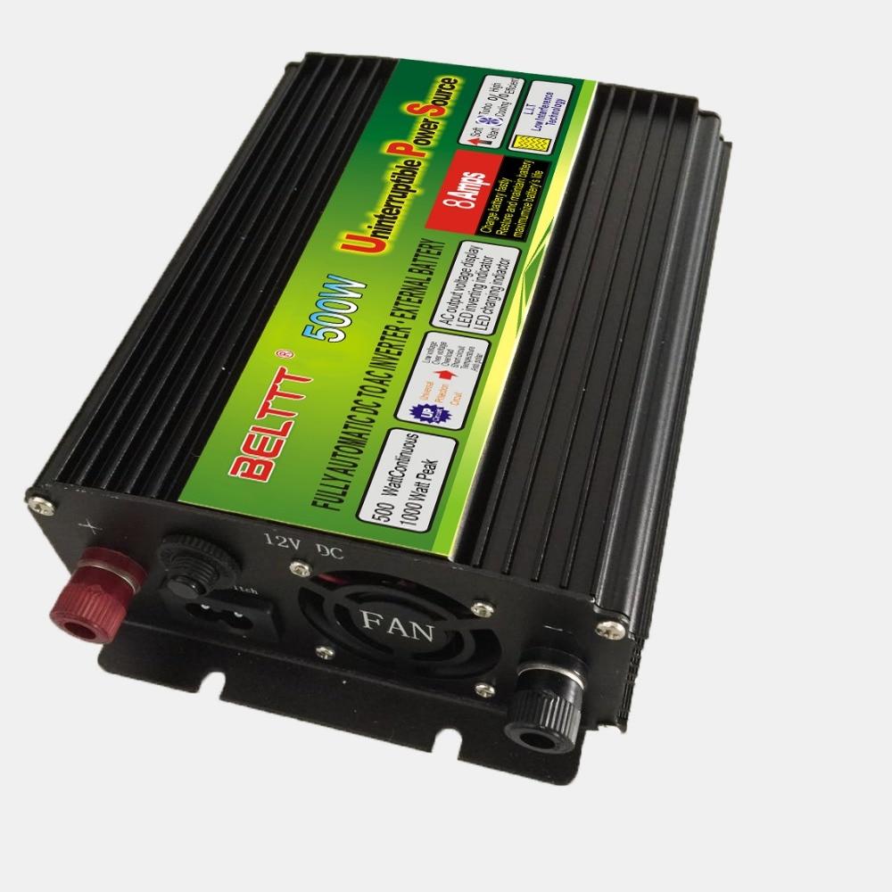 Kostenloser Versand dc12v zu ac 220 v/230 v 500 watt UPS power inverter mit ladegerät batterie solar power inverter