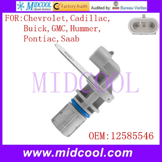 Nuevo Sensor de posición de Cigüeñal automático, usado OE No. 12585546 para Chevrolet Cadillac Buick Cadillac GMC Hummer Pontiac Saab