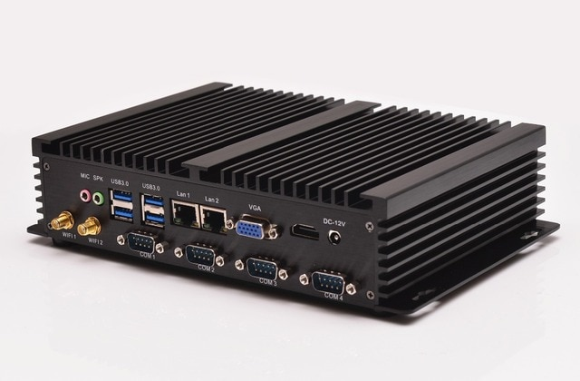 QOTOM Industrial Computer I37C4 Celeron 1037U,apply to home theater,htpc mini pc with rs232 port