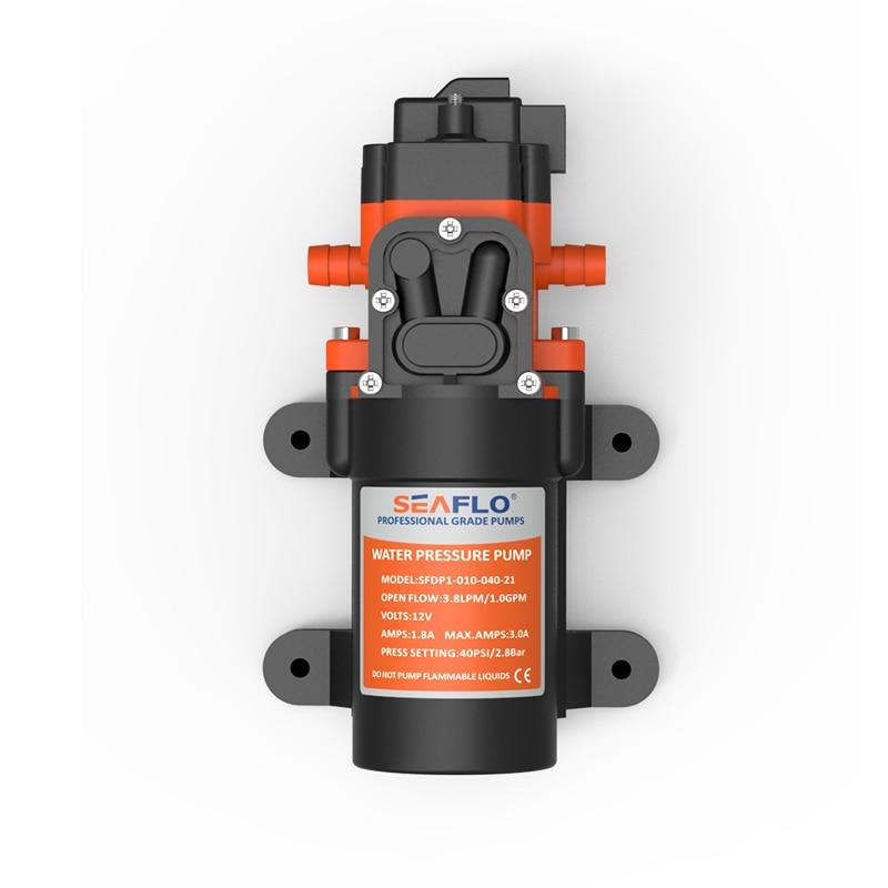 Bombas de agua al por mayor 1.0GPM 12V DC potencia autocebante bomba de diafragma pequeña 4.0A Max