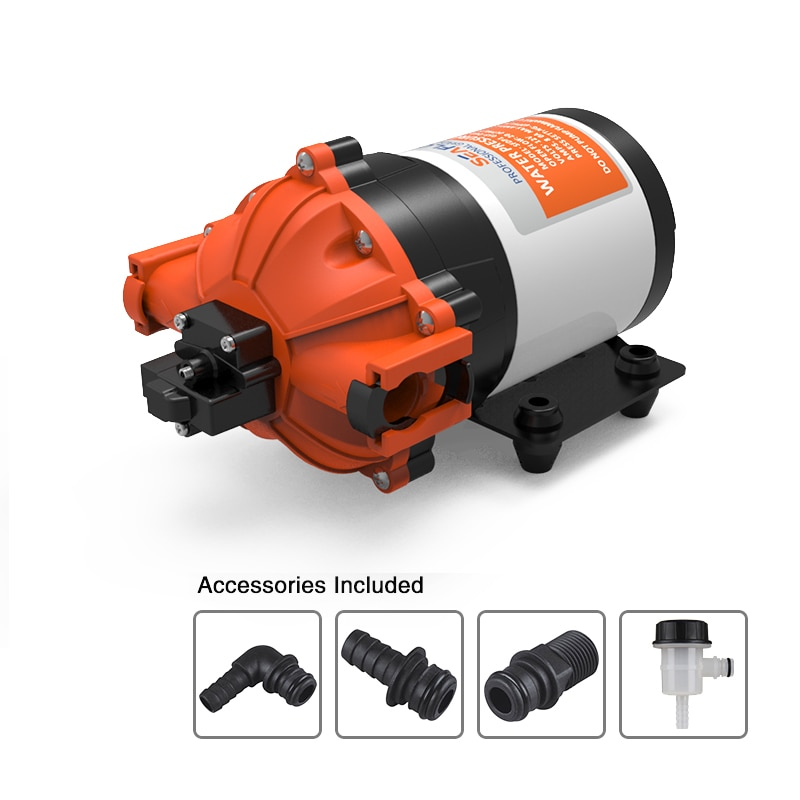 مضخة مياه عالية التدفق من سيفو 12 فولت 7.0 جيجا بايت 60 رطل لكل بوصة مربعة محرك كهربائي تحت الماء RV مضخة تخييم بحرية