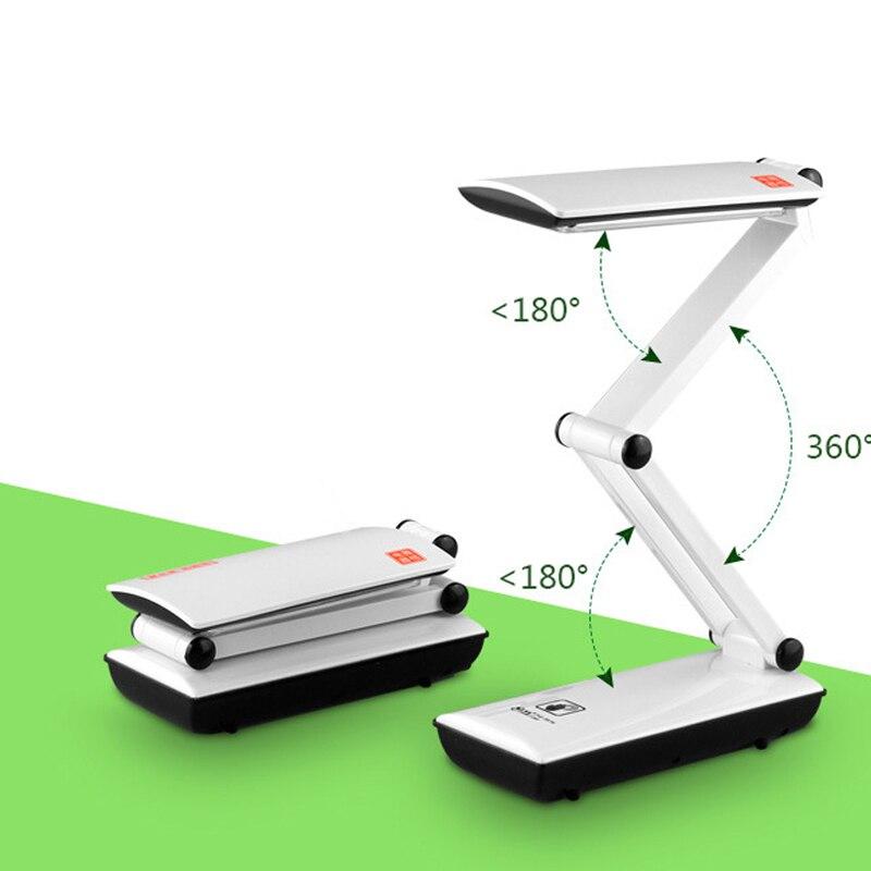 Lámpara de escritorio LED plegable regulable USB ajustable portátil Mini luz de lectura LED con control táctil lámpara de noche plegable niños Oficina