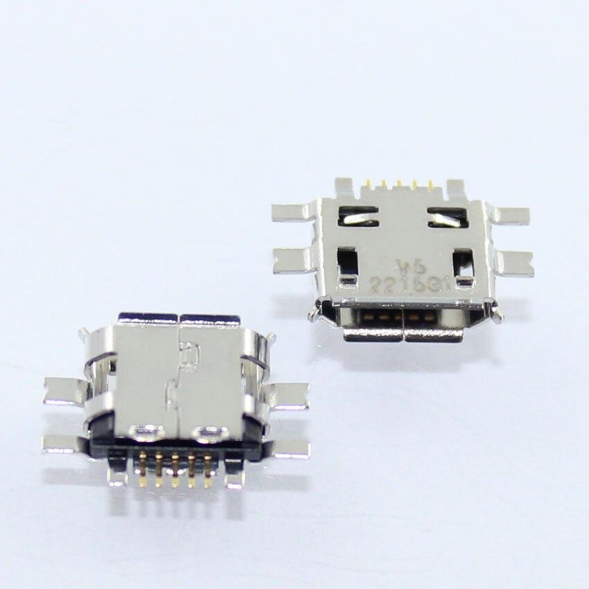 Cltgxdd 100 Uds Mini Conector Micro USB puerto de carga de datos, enchufe de cola para Nokia N97 E52 E55 N8