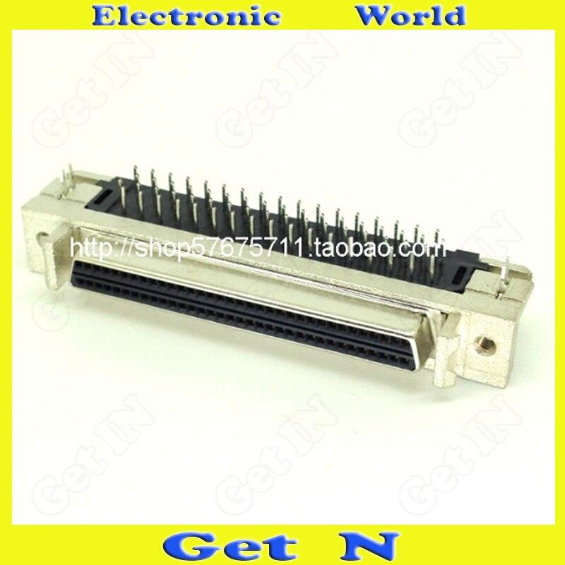 5 قطعة SCSI68P الإناث 90 درجة موصل HDB68P الكوع SCSI محول عكس