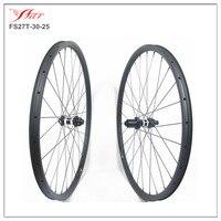 Disc brake track 27er carbon clincher mtb bike wheels 30mm width hookless  Farsports professional wheels supplier in China