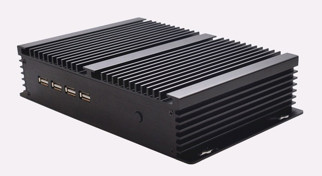 QOTOM Industrial Computer I37C4 Celeron 1037U,apply to home theater,htpc mini pc with rs232 port 2