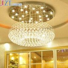 M led 크리스탈 celling 램프 침실 조명 크리 에이 티브 레스토랑 메신저 와이어 현대 더블 원형 램프 및 등불