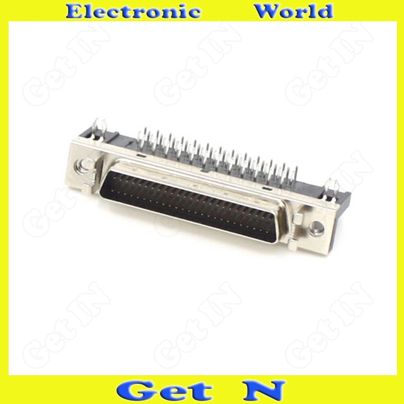 Adaptador de cabeça scsi, conector macho scsi50, adaptador de 90 graus, 20 peças