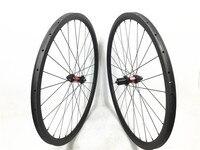 Far Sports 30mm x 25mm carbon cyclocross bike wheels tubular disc brake track DT 240S hubs central lock  QR axle 28H