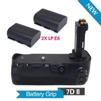 Meike MK-7DII Vertical Battery Grip with 2pcs LP-E6 Batteries for Canon EOS 7D Mark II Camera as BG-E16