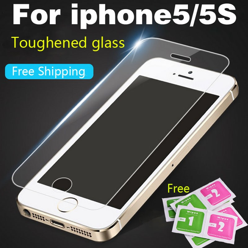 protective glass on the for iPhone4 4S 5 5S SE Premium Tempered Glass Screen Protector For iPhone5 H