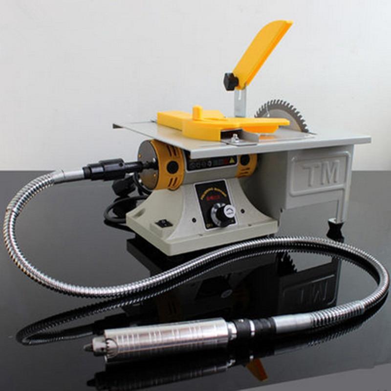 Mini moedor de bancada polimento máquina torno polidor elétrico/broca/serra ferramenta 220 v 700 w 30000 r/min