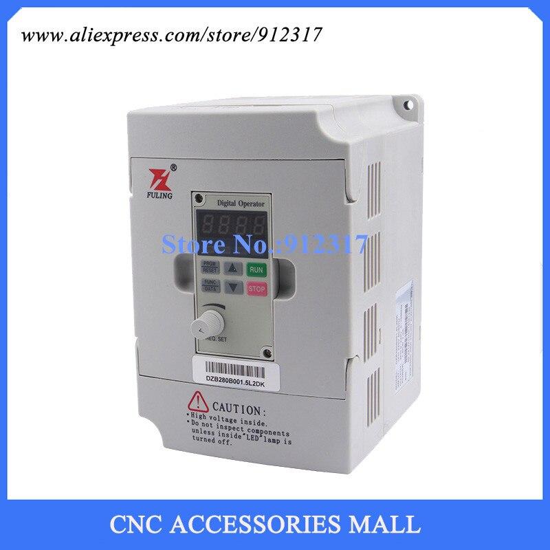 Inversor VFD 220 kW V, controlador de motor de husillo DZB280B001.5L2DK para máquina de grabado
