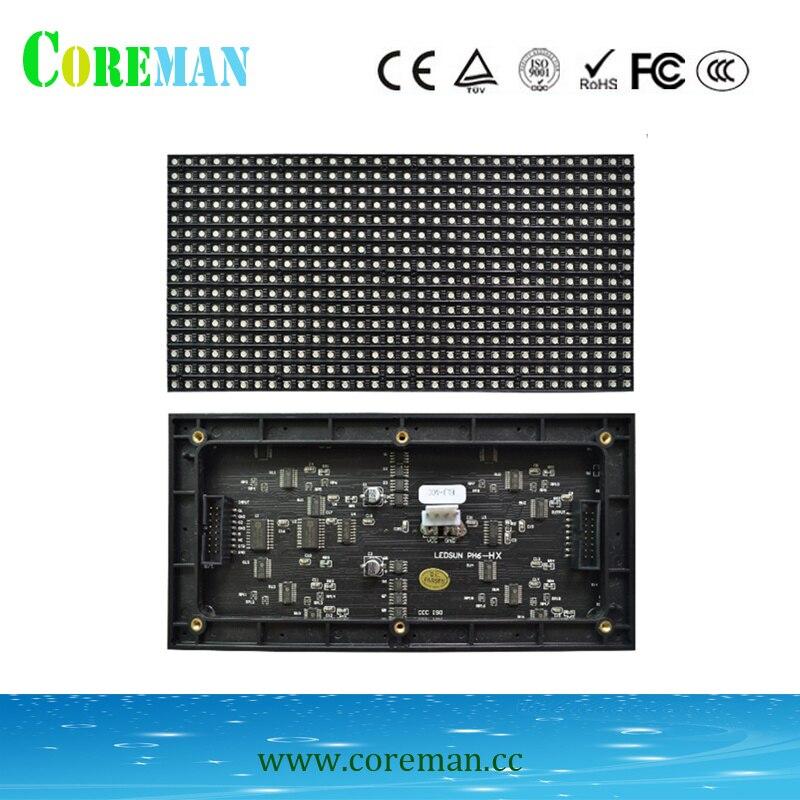 O passo 6 conduziu o painel alto do diodo emissor de luz do brilho 96*192mm p6 da varredura do módulo 1/8 para o armário conduzido de fundição 576*576mm p3p2p4p5 conduziu o módulo