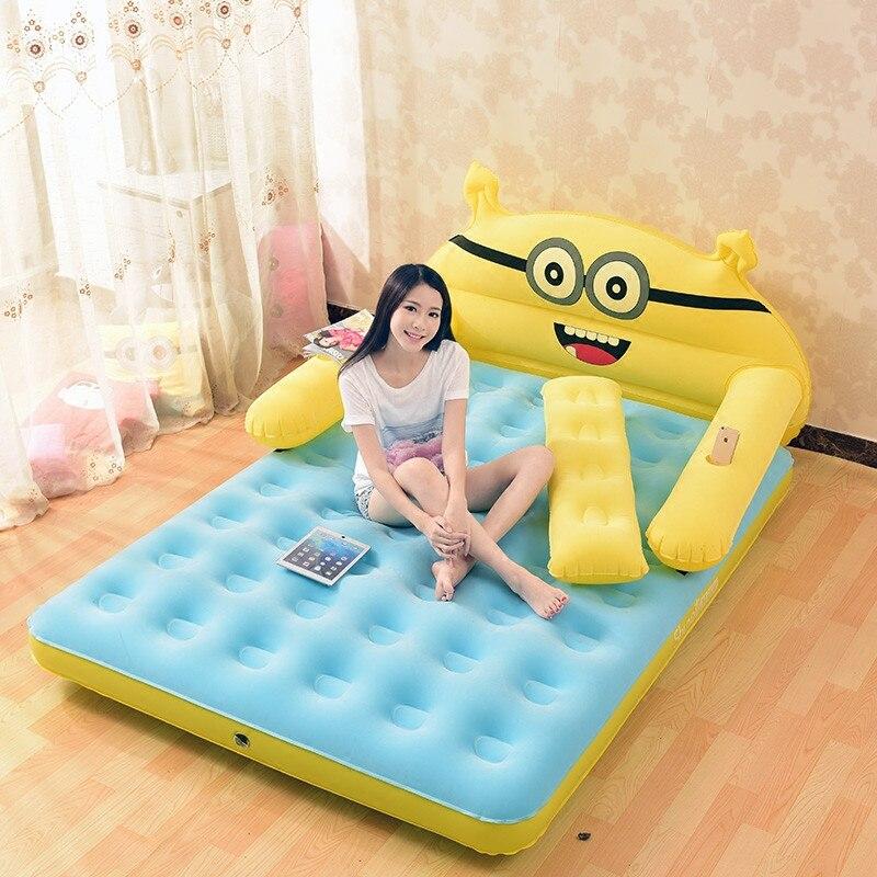 Надувной матрас 152 см * 203 22 утолщенная Складная мультяшная кровать Тоторо со