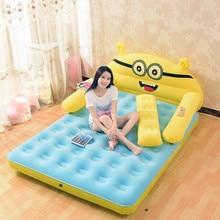 152CM * 203CM * 22CM matelas gonflable épaissi pliant Totoro lit de dessin animé avec dossier lit doux Cama chambre meubles