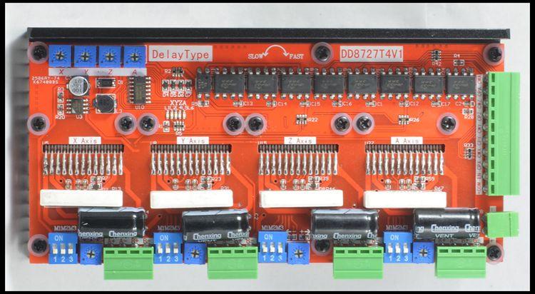 Nuevo diseño, controlador de Motor paso a paso 4 ejes 2 fases 4A128 Microstep LV8727 DD8727T4V1